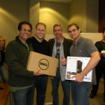Bob Moul of Dell Boomi awarding team Eff the PPA our 1st Place prizes: a shiny new Dell Duo and Xbox